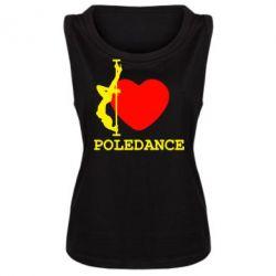 Женская майка Love Pole Dance