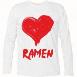 Футболка з довгим рукавом Love ramen