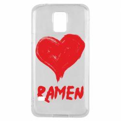Чохол для Samsung S5 Love ramen