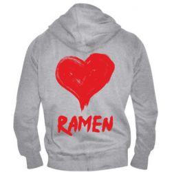 Чоловіча толстовка на блискавці Love ramen