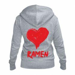 Жіноча толстовка на блискавці Love ramen