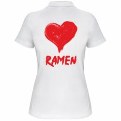 Жіноча футболка поло Love ramen