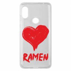 Чохол для Xiaomi Redmi Note Pro 6 Love ramen