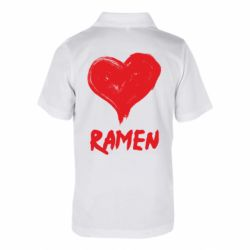 Дитяча футболка поло Love ramen