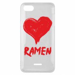 Чехол для Xiaomi Redmi 6A Love ramen