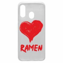 Чохол для Samsung A40 Love ramen