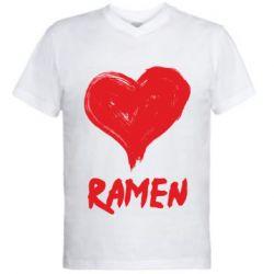 Чоловіча футболка з V-подібним вирізом Love ramen