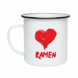 Кружка емальована Love ramen