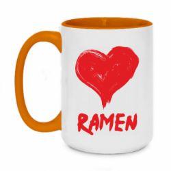 Кружка двоколірна 420ml Love ramen