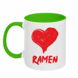 Кружка двоколірна 320ml Love ramen