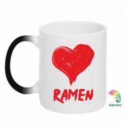 Кружка-хамелеон Love ramen