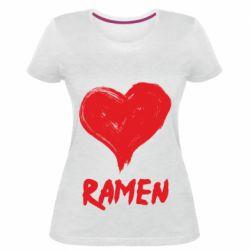 Жіноча стрейчева футболка Love ramen