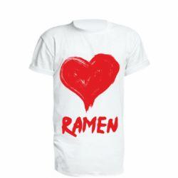 Подовжена футболка Love ramen