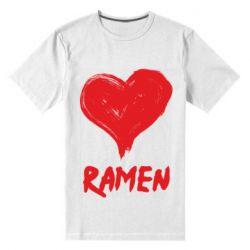 Чоловіча стрейчева футболка Love ramen