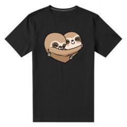Чоловіча стрейчева футболка Love sloths