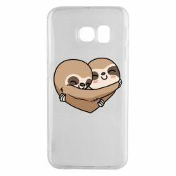 Чохол для Samsung S6 EDGE Love sloths