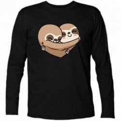 Футболка з довгим рукавом Love sloths