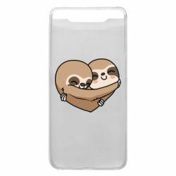 Чохол для Samsung A80 Love sloths