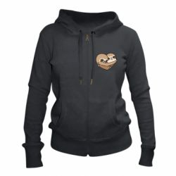 Жіноча толстовка на блискавці Love sloths
