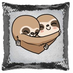 Подушка-хамелеон Love sloths