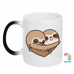 Кружка-хамелеон Love sloths