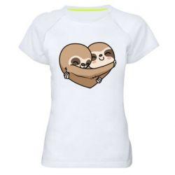 Жіноча спортивна футболка Love sloths