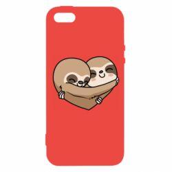 Купить Любовь и секс, Чехол для iPhone5/5S/SE Love sloths, FatLine