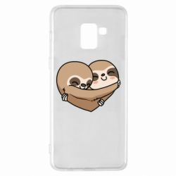 Чохол для Samsung A8+ 2018 Love sloths