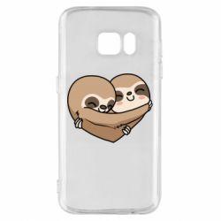 Чохол для Samsung S7 Love sloths