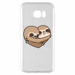 Чохол для Samsung S7 EDGE Love sloths