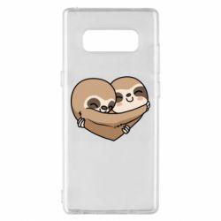 Чохол для Samsung Note 8 Love sloths