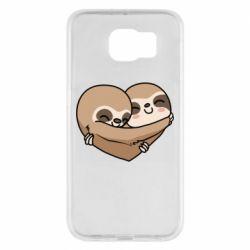 Чохол для Samsung S6 Love sloths