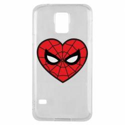 Чохол для Samsung S5 Love spider man