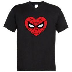 Чоловіча футболка з V-подібним вирізом Love spider man