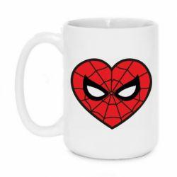Кружка 420ml Love spider man