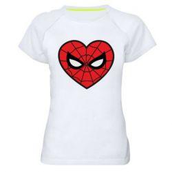 Жіноча спортивна футболка Love spider man