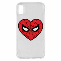 Чохол для iPhone X/Xs Love spider man