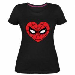 Жіноча стрейчева футболка Love spider man