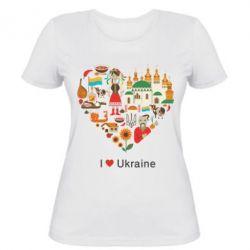 Женская футболка Love Ukraine Hurt - FatLine