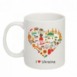 Кружка 320ml Love Ukraine Hurt - FatLine