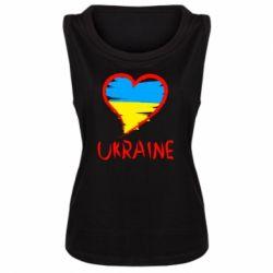 Женская майка Love Ukraine - FatLine