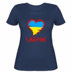 Женская футболка Love Ukraine - FatLine