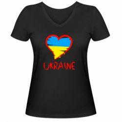Мужская футболка  с V-образным вырезом Love Ukraine - FatLine