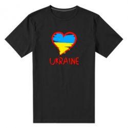 Женская футболка с V-образным вырезом Love Ukraine - FatLine