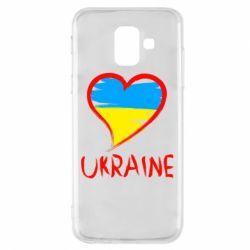 Чохол для Samsung A6 2018 Love Ukraine