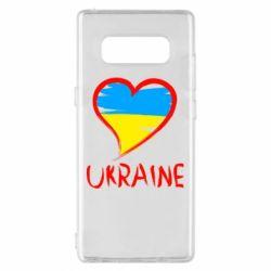 Чохол для Samsung Note 8 Love Ukraine