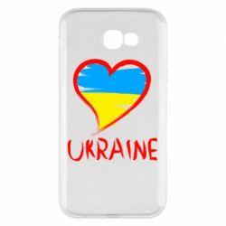 Чохол для Samsung A7 2017 Love Ukraine