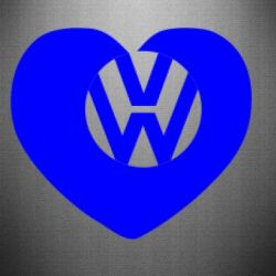 Наклейка Love Volkswagen - FatLine