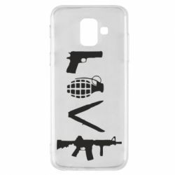 Купить ВДВ, Чехол для Samsung A6 2018 Love (weapon), FatLine