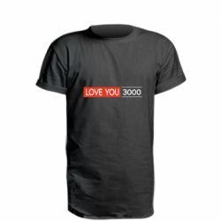 Удлиненная футболка Love you 3000
